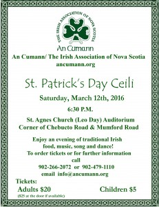 St. Patrick's Poster 2016